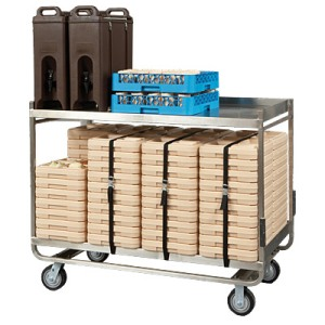 Cook's Brand Stainless Steel Tray Delivery Cart